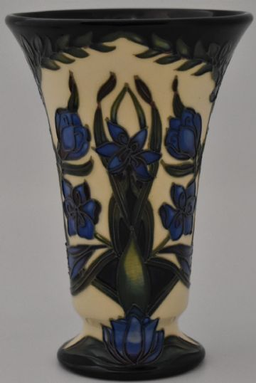 Moorcroft Pottery Kaffir Lily Vase Designed By Shirley Hayes